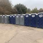 standard and wheelchair accessible porta potties